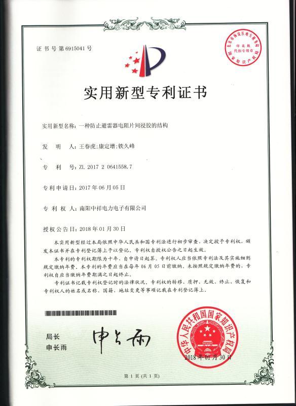 一zhong防止bi雷器电zu片浸胶的jiegou
